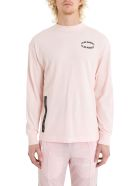 Palm Angels Circle Long Sleeve Tee - Pink
