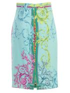Versace Collection Printed Pencil Skirt - Gazzurro St
