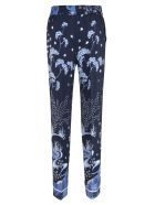 RED Valentino Floral Printed Trousers - Blue