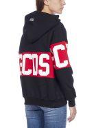 GCDS Logo Cotton Hoodie - Black