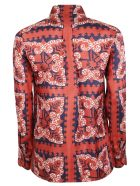 Valentino Mini Bandana Print Shirt - Mby Brick Blue