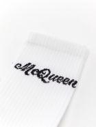 Alexander McQueen Socks Americana - White/black