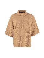 Max Mara Studio Sandalo Wool And Cashmere Sweater - Camel