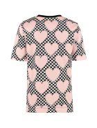 Love Moschino Printed Cotton T-shirt - Pink