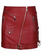 Manokhi Biker Style Mini Skirt - Red