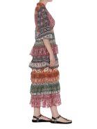 Zimmermann Amari Tiered Midi Dress - Multicolor
