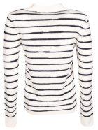 Rag & Bone Sam Stripe Print Jumper - Ivory/Navy