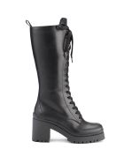 Miu Miu Chunky Sole Lace-up Boots - Nero