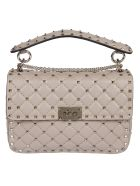 Valentino Studded Shoulder Bag - Poudre