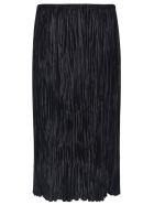 Jil Sander Pleated Straight Skirt - BLACK