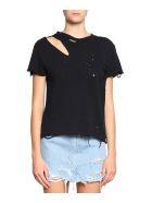 AMIRI Destroyed Cotton T-shirt - NERO