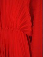 Valentino Valentino Pleated Evening Dress - RED