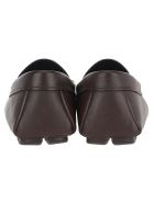 Prada Driver Leather Loafers - BROWN