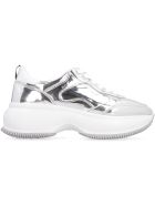 Hogan Mirror Effect Leather Maxi 1 Active Sneakers - Silver