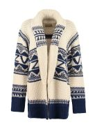 Zadig & Voltaire Emma Wool Blend Tricot Knit Cardigan - Multicolor