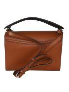 Lancel Envelope Style Shoulder Bag - Wood/Black