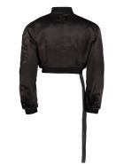 Ben Taverniti Unravel Project Nylon Bomber Jacket - black