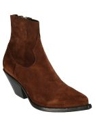Buttero Zipped Ankle Boots - Snuff