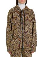 M Missoni Lurex Knit Hoodie With Allover Logo - Oro