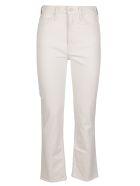 Mother White Cotton Raider Jeans - White