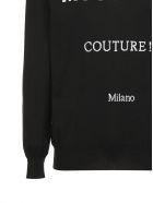 Moschino Logo Intarsia Sweater - Nero bianco