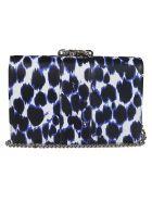 Gedebe Crystal Embellished Shoulder Bag - Blue