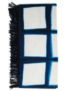 Suzusan Diffuse Pattern Scarf - Dark Blue Light Grey