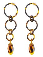 Cult Gaia Odette Earrings - brown