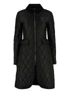 Burberry Quilted Riding-coat - black