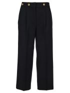 Givenchy 4g Button Cropped Pants - NAVY