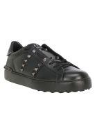 Valentino Rockstud Spike Sneakers - No Black