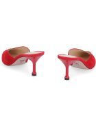 Prada Suede Pointy-toe Mules - red