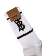 Burberry Logo Detail Socks - White