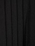 Emporio Armani Pleated Dress 3/4s Crepe Lurex - Nero
