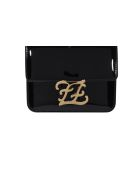 Fendi Ff Karligraphy Bag - Black