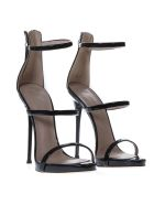Giuseppe Zanotti Harmony Black Patent Sandals - Black