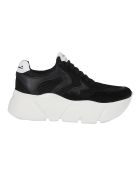 Voile Blanche Thick Sole Sneakers - Black
