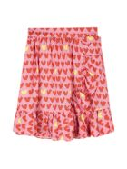 Stella McCartney Hearts Viscose Twill Skirt - Fantasia