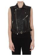 Bully Leather Waistcoat - Black
