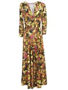 Ultrachic Fruits Printed Maxi Dress - Multicolor