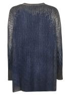 Avant Toi Round Neck Sweater - Blue/Silver
