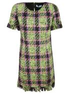 Blumarine Fringed Dress - multicolored