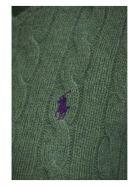 Ralph Lauren Cable Wool Crewneck Jumper - Green Heather