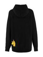 Nervure Embroidered Knit Blouson - black