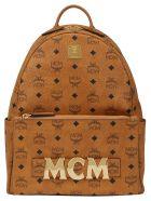 MCM Trio Stark Backpack - Cognac