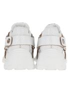 Miu Miu Low Top Sneakers With Cristals Embellishment - WHITE