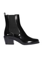 Tod's Leather Ankle Boots - Black