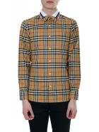 Burberry Antique Yellow Checked Shirt - Antique yellow