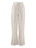 Brunello Cucinelli Knitted Lurex Wide-leg Trousers - Ivory
