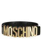 Moschino Logo Belt - Black